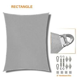 Gray 16-22ft Heavy Duty Steel Wire Sun Shade Sail Patio Pool Cover W/8 Kit