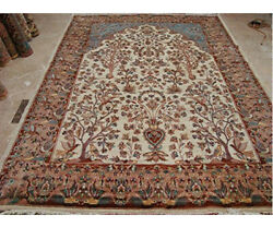 Tree Of Life Peace Birds Area Rug Wool Silk Hand Knotted Carpet 10.4 X 7.2and039