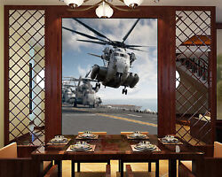 3d Helicopter Army 5 Wall Paper Wall Print Decal Wall Deco Indoor Mural Summer