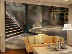 3D Stairs Aisle Hall 4 Wall Paper Wall Print Decal Wall Deco Indoor Mural Summer