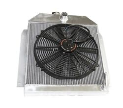 Fit 49-52 Plymouth Chrysler Coupe Sedan 6cyl 3 Row Performance Radiator+16fan