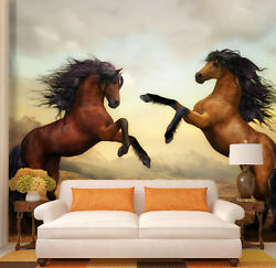 3d Fashion Brown Horse 55 Wall Paper Wall Print Decal Wall Deco Indoor Mural