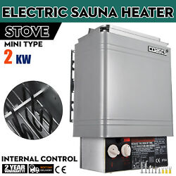 2KW Wet&Dry Sauna Heater Stove Internal Control Control Knobs Spa Wall-mount