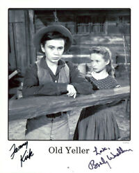 Old Yeller Tommy Kirk And Beverly Washburn Signed Photo Coa