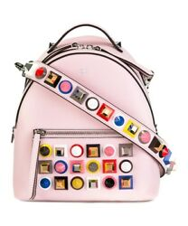 Fendi Women's Pink Leather Backpack