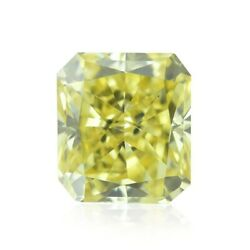 0.32cts Fancy Intense Yellow Loose Diamond Natural Color Radiant Cut Gia Cert