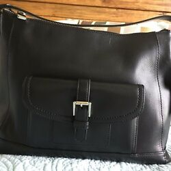 EUC Coach Black Leather Charlie Hobo Shoulder Bag Bucket Carryall 29881 MSRP$398