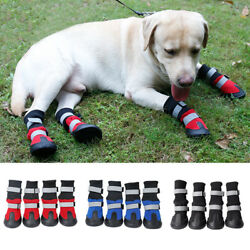 Pet Shoes Booties Rubber Dog Waterproof Warm Dog Long Boots XL L M S All Size