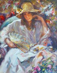 Jose Royo Sol Y Sombra Hand Signed Mixed Media Serigraph On Clayboard Ed Panel