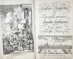 1766 London Magazine Stamp Act Revolutionary War Taxation Without Representation