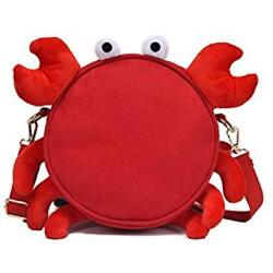 Cute Crab Luggage & Travel Gear Style Canvas Tote Bag Messenger For Women Kids