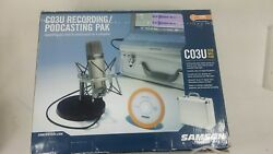 Samson C03U Kit USB MIC Recording Package Podcast Studio Microphone