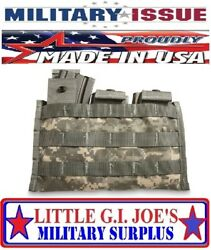New Military Issue Acu Triple Mag Magazine Pouch Molle 3 X 30 Round Side By Side