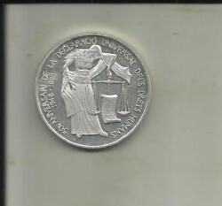 Andorra 10 Diners 1998. Human Rights. Silver Coin . Unc Condition. 6rw 26jul