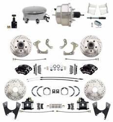 Chevy Belair 55-58 Front And Rear Wilwood Disc Brake Stainless Oval Conversion Kit
