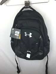 Under Armour UA Backpack Back Pack Book Bag - black  womensmens *mzdx