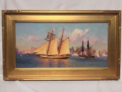 Calvin Liang Original Oil Painting Signed And Framed.