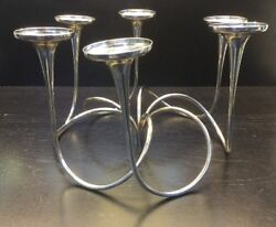 Sterling Silver Gorham 602 Ornate 3 Piece Set Of Candle Holders