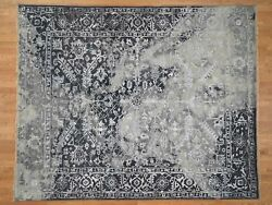 8and039x10and039 Broken Persian Heriz All Over Design Wool And Silk Handknotted Rug G41831