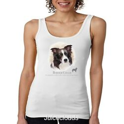 Border Collie Tank Top Puppy Pet Rescue Dog Owner JUNIORS Tee