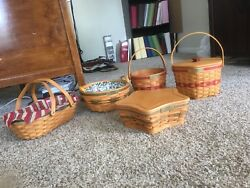 Longaberger Basket Christmas Collection Set 1994 To 2008. Excellent Condition.