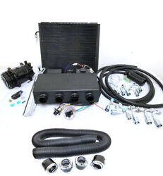 Universal Underdash Ac Air Conditioning Evaporator Kit W/ Duct Vents Compressor