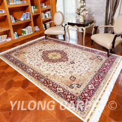YILONG 6'x9' Handicraft Persian Silk Floral Carpet Home Office Durable Rug Z91A