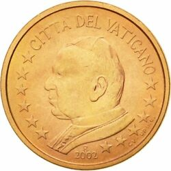 [581397] Vatican City, 5 Euro Cent, 2002, Ms63, Copper Plated Steel, Km343