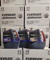 Evinrude Xps Marine Xd100 Synthetic Outboard Etec Oil Case Of 3gal Same Day Ship