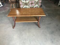 Old Hickory Furniture Mission Style Coffee Table With Oak Top