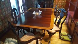 The Best Stickley Cherry 11pc Antique Dining Room Set Table 6 Chairs 4 Leaves