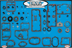 Drag Specialties 0934-0287 Gasket Seal And O-ring Display For Big Twin 5-speed