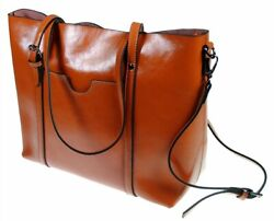 The Kyra Collection Womens Genuine Leather Satchel Purse Shoulder Bag Brown $29.95