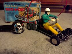 Vintage Marx Race-a-kart Toy Battery Operated With Box