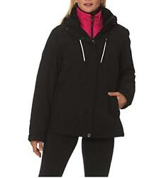 Gerry Systems Women's 3-in-1 Jacket with Detachable Hood BlackPink