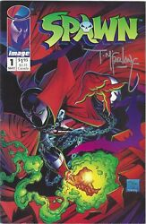 NEW SPAWN #1 MAY 92 HAND SIGNED TODD MCFARLANE 1ST APPEARANCE IMAGE COMICS RARE
