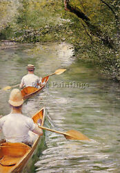 Caillebotte Gustave Perissoires Aka Canoes Artist Painting Oil Canvas Repro Deco
