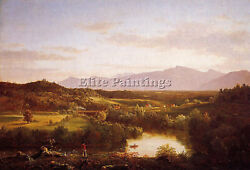 Cole Thomas River In The Catskills Artist Painting Oil Canvas Repro Art Deco