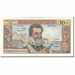 [592667] France 50 Nouveaux Francs 50 Nf 1959-1961 And039and039henri Ivand039and039 1959-09-03