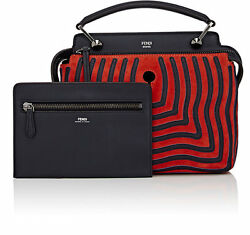 New Fendi New Dot.com Small Crossbody bag Satchel $3490 navy red