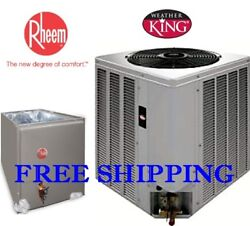 3.5 Ton R-410A 14SEER WeatherKing by Rheem AC Condensing Unit & Evaporator Coil