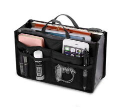 Women Travel Insert Handbag Organizer Purse Large Liner Organizer Tidy Bag New $6.99