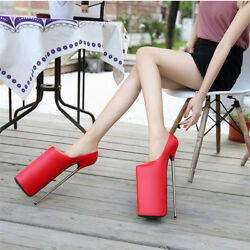 11.81 Inches Heel Height Sexy Pu Pointed Toe Stiletto Heel Pumps Us Size 6-13