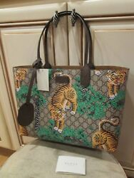 new GUCCI women's designer brown  BENGAL SUPREME Tote bag