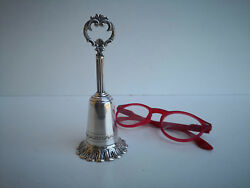 Vintage Greggio Rino Chic Sterling Silver Service Table Dinner Bell Italy