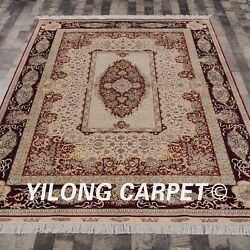 YILONG 6'x9' Persian Handknotted Silk Rugs Bedroom Oriental Home Carpet S142A