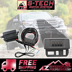 S-tech 4 Switch System With Relay Center - Amber Kit Fits 16-18 Toyota Tacoma