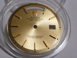 Rolex Champagn Gold Piepan President Day Date Watch Dial 1803 1802 R60