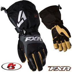 2019 FXR Men's Heated Recon Snowmobile Glove Black L LG Large Motorcycle Gloves