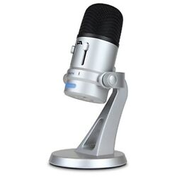 Cyber Acoustics USB Condenser Microphone for Podcasts Gaming Vocal Music St